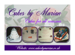Birthday Cakes by Marian Brochure